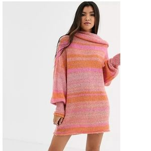 🌸Free People candy stripe sweater dress